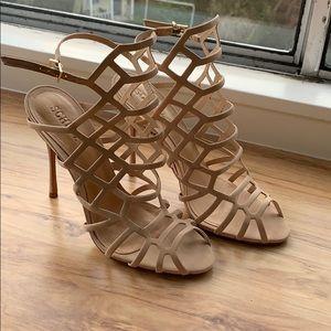 Shultz Taupe Lattice Heels